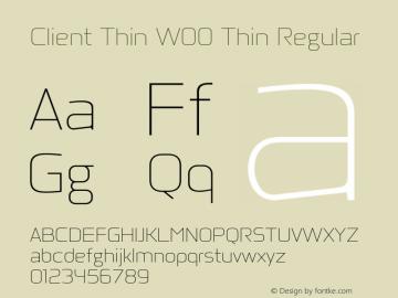Client Thin W00 Thin