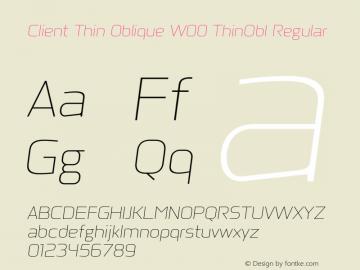 Client Thin Oblique W00 ThinObl