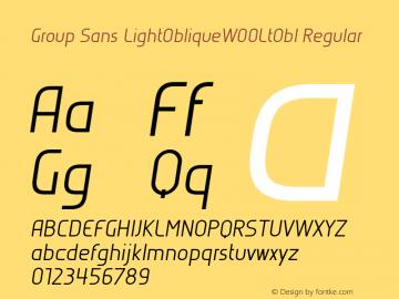 Group Sans LightObliqueW00LtObl