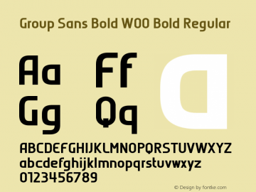 Group Sans Bold W00 Bold