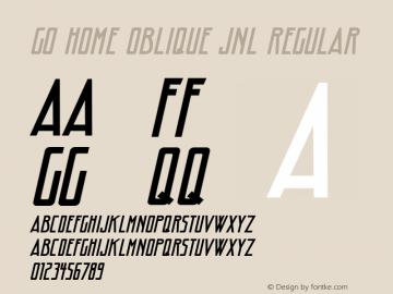 Go Home Oblique JNL