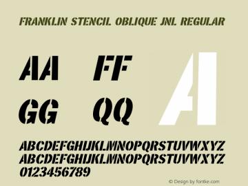 Franklin Stencil Oblique JNL