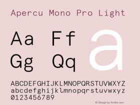 Apercu Mono Pro