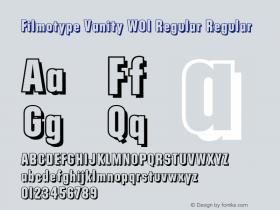 Filmotype Vanity W01 Regular