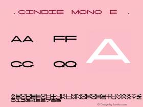☞Cindie Mono E