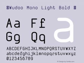 ☞Wudoo Mono Light Bold