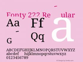 Fonty 222