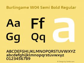 Burlingame W04 Semi Bold