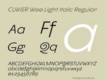 CUKIER W00 Light Italic