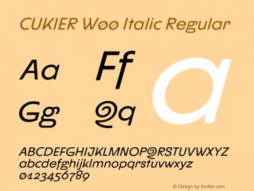 CUKIER W00 Italic