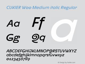 CUKIER W00 Medium italic