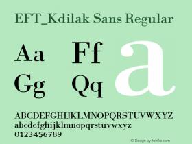 EFT_Kdilak Sans