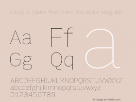 Output Sans Hairlines Variable