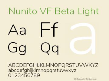 Nunito VF Beta