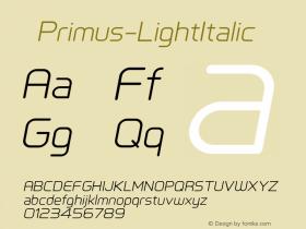 ☞Primus-LightItalic