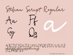 Stefian Script