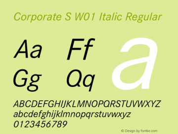 Corporate S W01 Italic