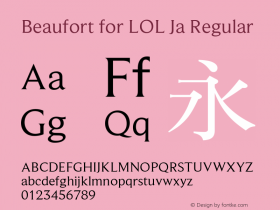 Beaufort for LOL Ja