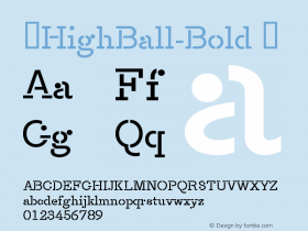 ☞HighBall-Bold