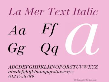 La Mer Text