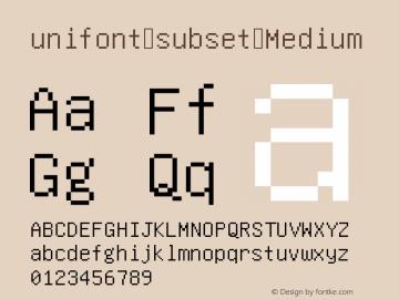 unifont-subset