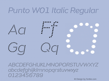 Punto W01 Italic