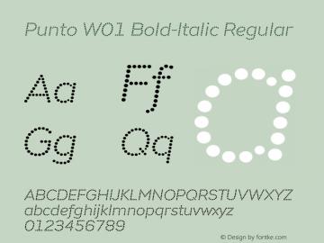 Punto W01 Bold-Italic