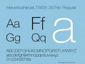 HelveticaNeueLTW05-35Thin