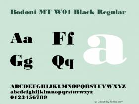 Bodoni MT W01 Black