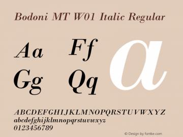 Bodoni MT W01 Italic
