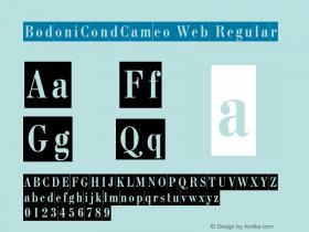 BodoniCondCameo Web