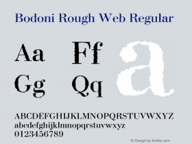 Bodoni Rough Web