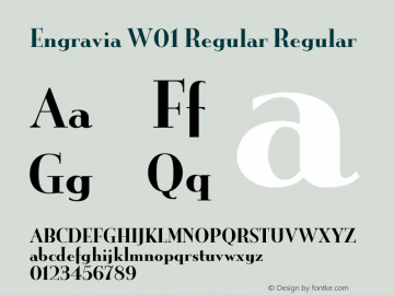 Engravia W01 Regular