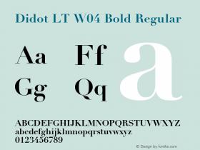 Didot LT W04 Bold