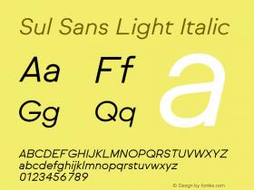Sul Sans Light