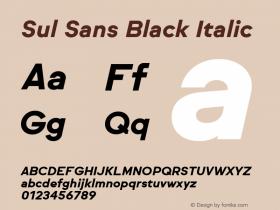 Sul Sans Black