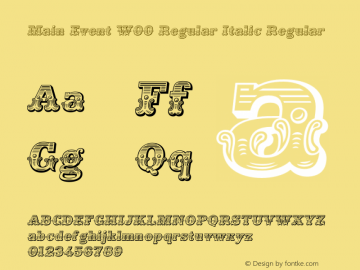 Main Event W00 Regular Italic