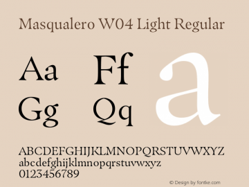 Masqualero W04 Light