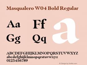 Masqualero W04 Bold