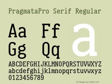 PragmataPro Serif