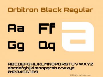 Orbitron Black