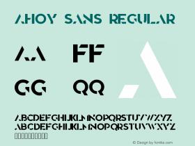 Ahoy Sans