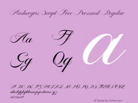 Ambergris Script Free Personal