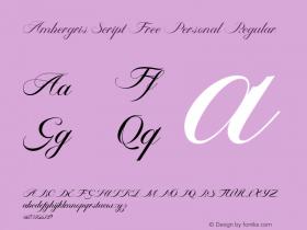 Ambergris Script Free Personal