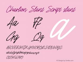Charlion Slant Script