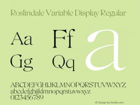 Roslindale Variable Display