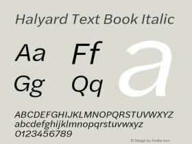 Halyard Text