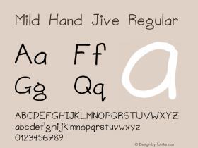 Mild Hand Jive