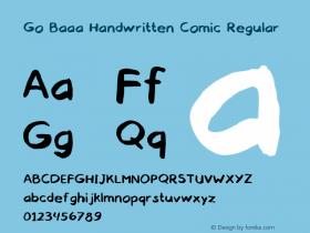 Go Baaa Handwritten Comic