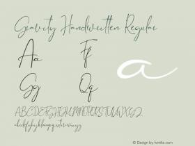 Gravity Handwritten